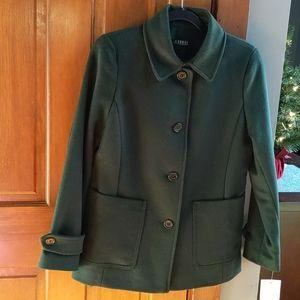 NEW Ralph Lauren Forest Green Pea Coat 8P